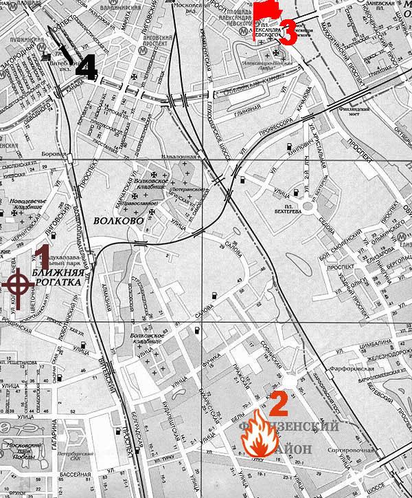 Топографические карты - Санкт-Петербург -карта города.
