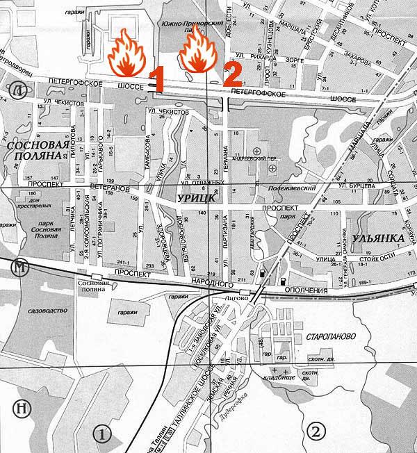 Интерактивная карта Санк-Петербурга - при нажатии на любое место карты открывается увеличенный фрагмент.