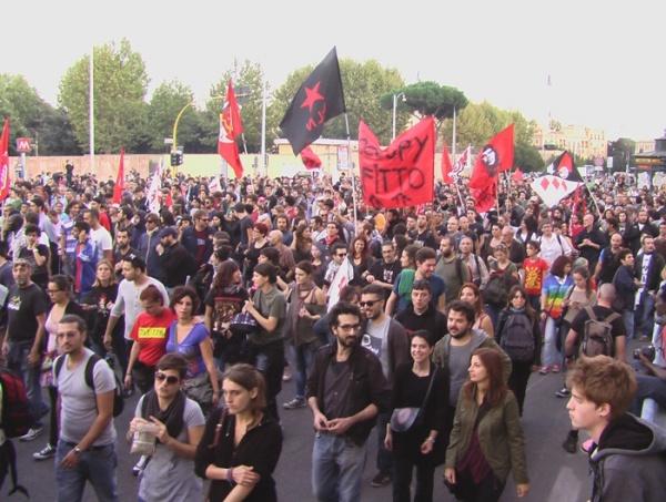 протесты в Италии глазами участника