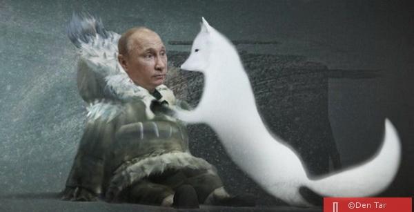К Путину пришёл песец